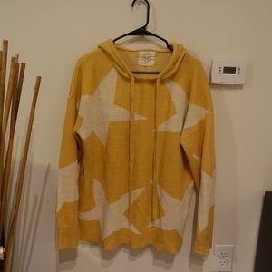 Yellow star sweater hoodie
